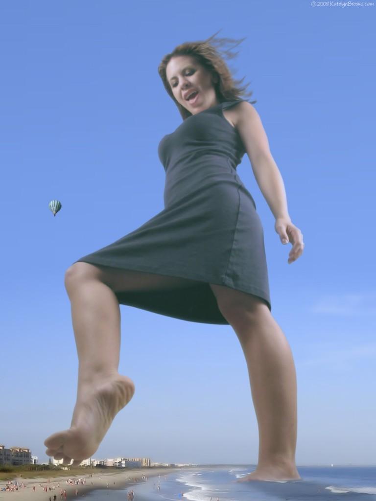 Giantess Above the Beach
