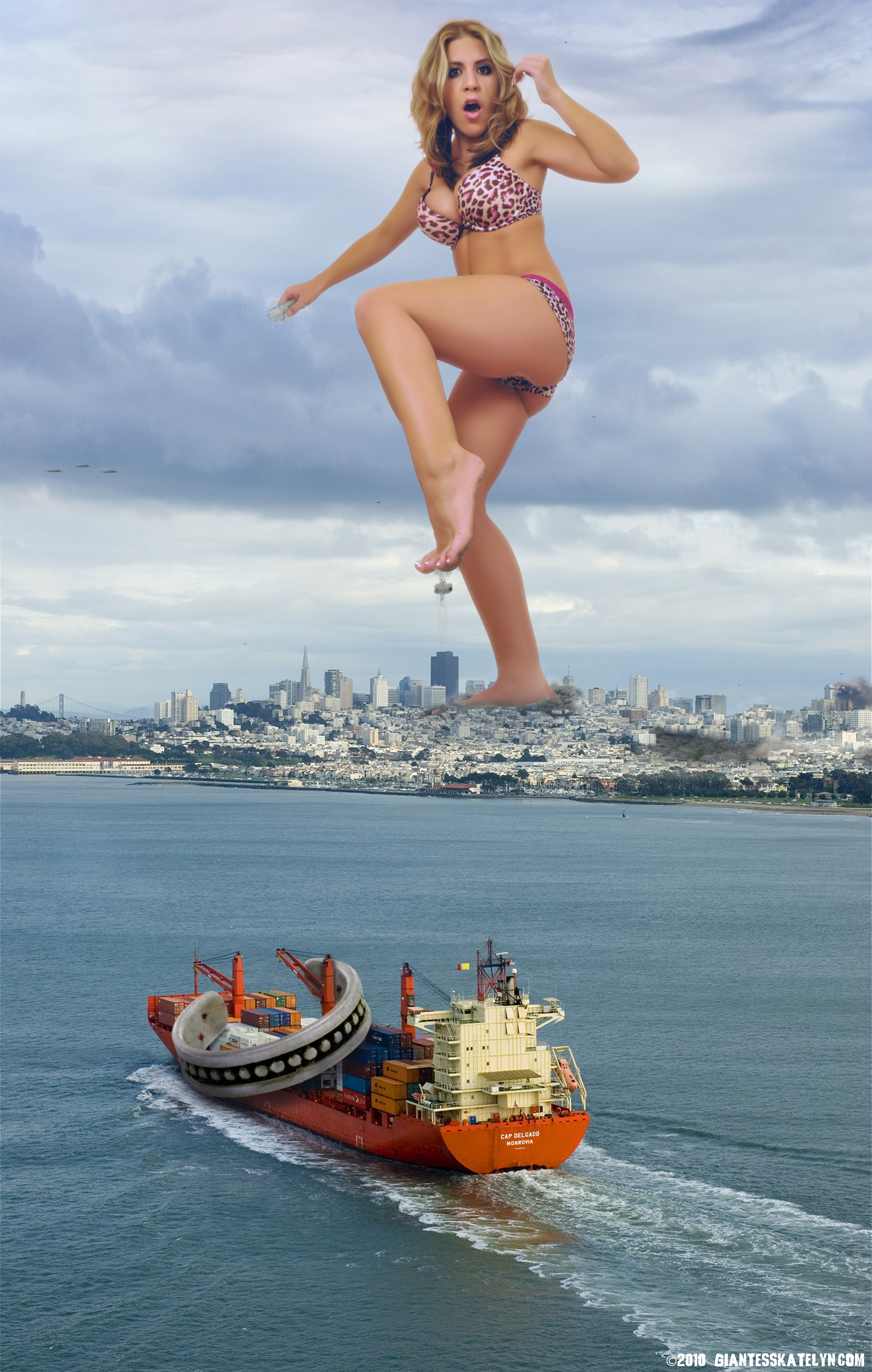 Giantess nude in the city xxx picture