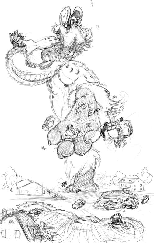 Furry Giantess Nikkii - Cougr
