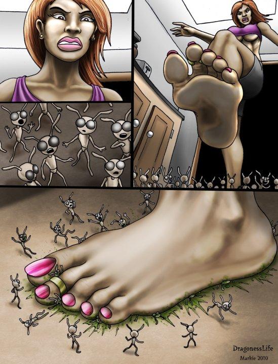 Giantess Katelyn Bugs - Markie