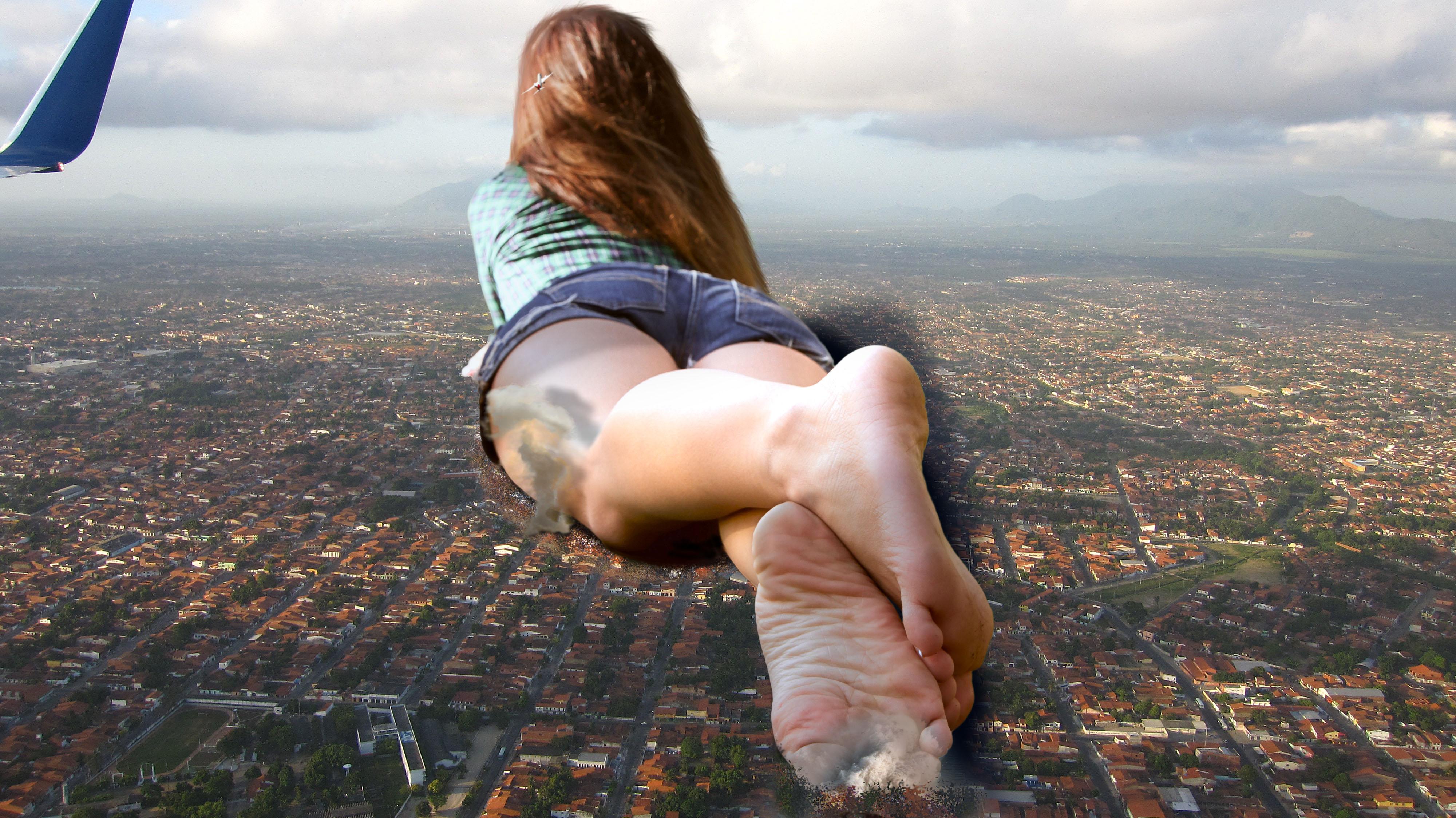 Katelyn laying on the city by WonderSlug